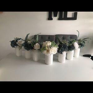 Handmade Mason jars & Fall Flowers